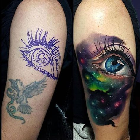 #realistic #eye #fullcolor #galaxy #nebula #space #coverup #TylerMalek