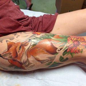 #thightattoo #legtattoo #fox #nature #animal