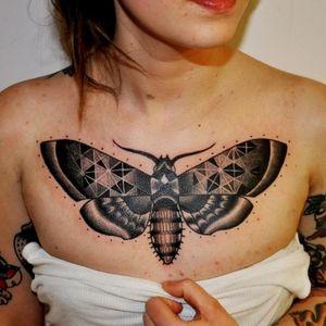 #traditional #geometric #blackandgrey #moth