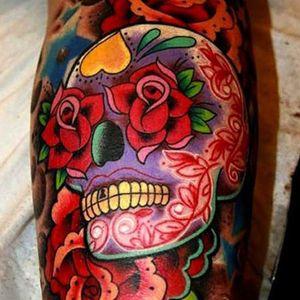 #sugarskull #dayofthedead #skull #roses