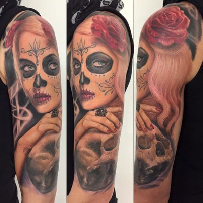 Finished this one today, by GERHARD #lacatrina #dayofthedead #diadelosmuertos #color