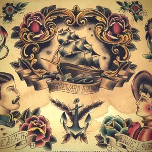 #Flash sheet by #ClaudiadeSabe #ship #man #woman #anchor #rose #flower #traditional