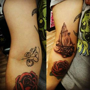 Before and After #beforeandafter #coverup #prayinghands #atx
