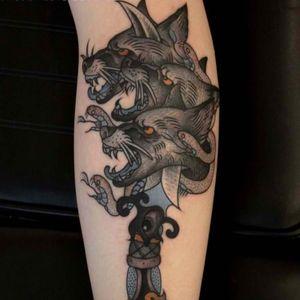 #dagger #wolf #eye #snake