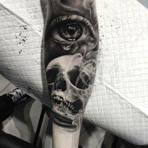 Healed skull by Bob #custommadeink #skull #eye #realistic #realism #copenhagen