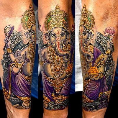 Partly fresh. Sleeve in progress #ganesha #sleeve #inprogress #indian #religious