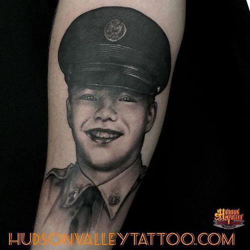 Portrait by Diego Martin (IG: diegomartin_hvtc ) / Hudson Valley Tattoo Company   #hvtc #hudsonvalleytattoo #DiegoMartin #portrait