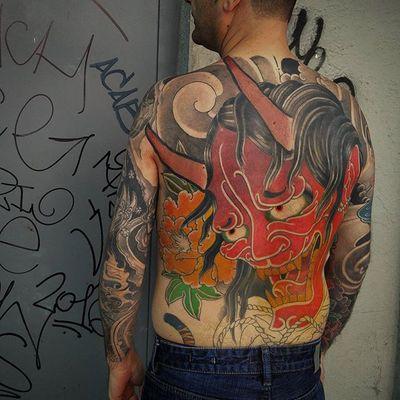 In progress #japanese #hannya #hannyamask #back #madre13 #madrid