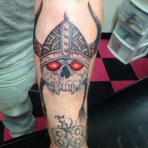 Just done by Jess!! Tell ya friends!! #viking #skull #allstarink