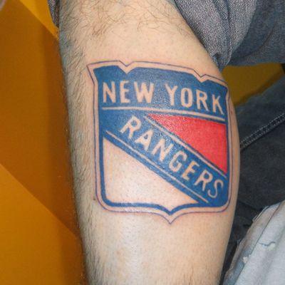 Tattoo by Kelly #rangers #NYRangers #icehockey #sport #logo #NY #NewYork #kellystattoohouse
