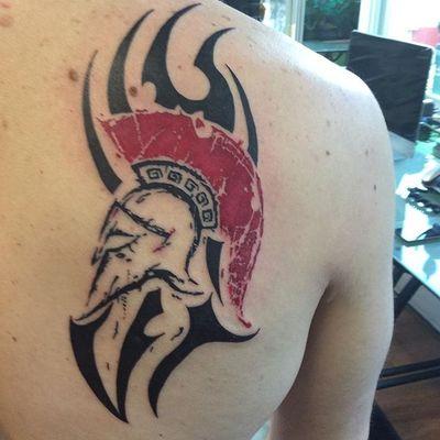 Viking tattoo #viking #tribal #redink #lupita #lupitastattos