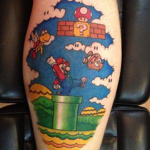Do the Mario!! Tattoo by Jay Baxter #Mario #mariobros #game #computergame #nostalgia #nerdy #nintendo