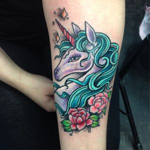 Magic unicorn by Magie Serpica #statenisland #statenislandink #statenislandtattoo #unicorn #magic #