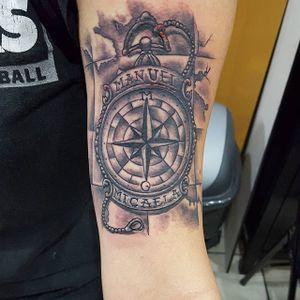 By Mario Delgado #compass #blackandgray #maritime #name