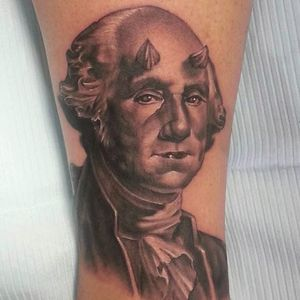 Washington as the devil by John Lally (via IG -- jlallyart) #johnlally #demon #georgewashington