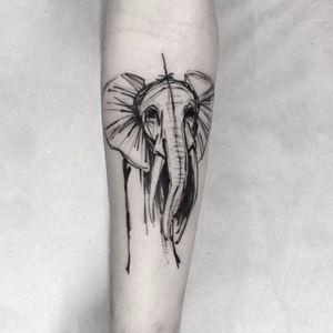 Elefante por Alexandre Aske! #AlexandreAske #Ttatuadoresbrasileiros #tatuadoresdobrasil #tattoobr #tattoodobr #sketchtattoos #sketch #elephant #elefante
