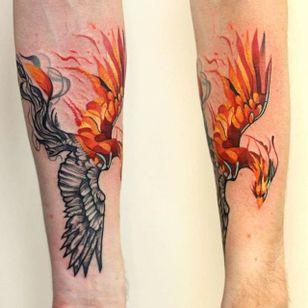 Phoenix Tattoo by Martynas Šnioka #phoenix #phoenixtattoo #watercolor #watercolortattoo #abstract #abstracttattoo #graphic #graphictattoo #lithuanian #MartynasSnioka