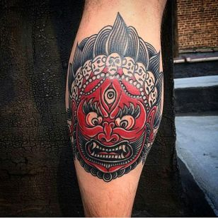 Mahakala Tattoo by Vova Bydin #mahakala #mahakalatattoo #mahakalatattoos #kali #hindu #hindutattoo #deity #deitytattoo #VovaBydin