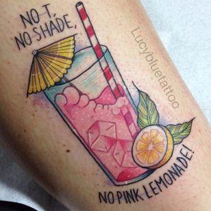 When Life Gives You Lemonade Tattoos (via IG—lucybluetattoo) #Lemonade #Lemons #Summer
