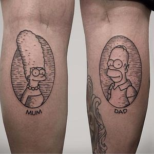 #ThomasBates #thesimpsons #ossimpsons #TheSimpsonstattoo #marge #homer