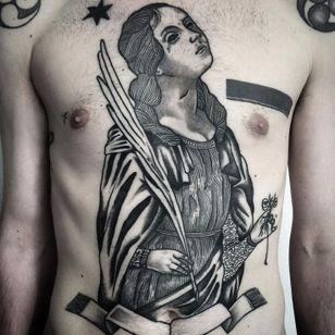 Gorgeous tattoo by Massimo Gurnari #MassimoGurnari #medievalart