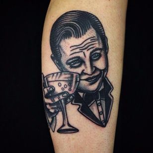 Great Gatsby Tattoo by Matt Cooley #traditional #traditionalportrait #MattCooley #GreatGatsby