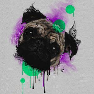 Arte por Tezoouro! #Tezoouro #Artistasbrasileiros #digitalartist #graphicdesigner #artistadigital #designergrafico #ilustração #illustration #dog #cachorro #pug