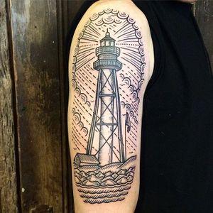 Lighthouse. #RobBanks #linework #lighthouse #nautical #ocean