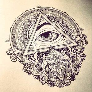 #VikaNaumova #illustration #ilustração #olhoquetudove #allseeingeye #eyetahtseeall #olhodaprovidencia