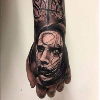 O Rei da capirotagem, Marilyn Manson! #MarilynManson #rock #metal #musica #music #AnrijsStraume #dark #trash #realistic #fromhell #blackwork #TattoodoBR
