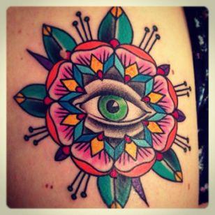 Traditional Eye Tattoo by Old Crow Tattoo #Eye #allseeingeye #traditional #oldschool #OldCrowTattoo