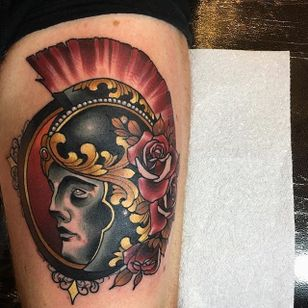 Soldier Tattoo by Daryl Watson #soldier #neotraditional #neotraditionalartist #contemporary #stylish #bold #DarylWatson