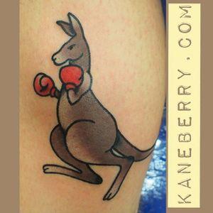 Boxing kangaroo by Kane Berry. #boxing #boxinggloves #kangaroo #boxingkangaroo #traditional #KaneBerry