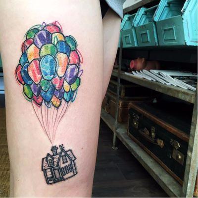#LucaTestadiferro #coloridas #colorful #nerd #geek #tatuadoresgringos #up #disney #filmes #movies #casa #house #baloes #balloons