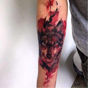 #lobo #wolf #JohnNeedle #JonathanBrito #aquarela #coloridas #watercolor #colorful #TatuadoresDoBrasil