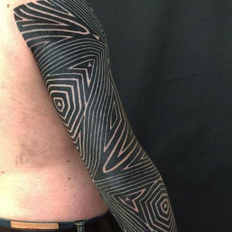 Pattern tattoo by Matt Black #MattBlack #tribal #pattern #patternwork #sleeve #blackwork #blacksleeve