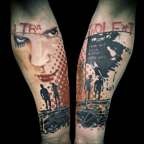 Postmodern Tattoo by Paul Talbot #Postmodern #Abstract #PostmodernTattoos #ContemporaryTattoos #ModernTattoos #ArtisticTattoos #PaulTalbot  #contemporary #modern #artistic
