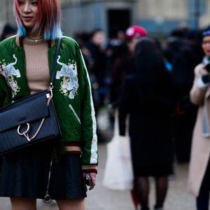 Fashion Week street style via W Magazine #fashion #streetstyle #fashionweek #style