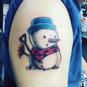 Snowkid. (via IG - a978lin) #Snowman #Snowmen #Winter