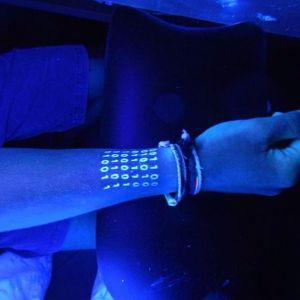 UV tattoo by Absolum Tattoo #UV #numbers #AbsolumTattoo
