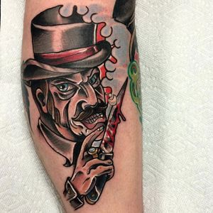 Jack the Ripper tattoo by Zack Levey. #JacktheRipper #serialkiller #history #england #london #killer
