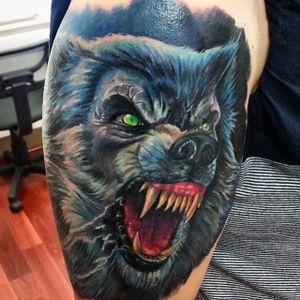Werewolf Tattoo by Tom Kenyon #wolf #werewolves #werewolf #horror #horrorcreature #halloween #TomKenyon