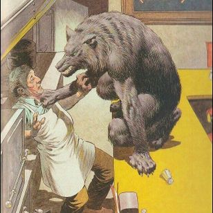 Illustration from Cycle of the Werewolf by Bernie Wrightson #berniewrightson #werewolf #stephenkind