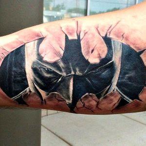 Batman tattoo by Jose Andres #batmantattoo #batman #joseandres