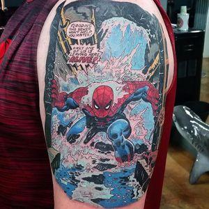 #zackindertattoos #SpiderMan #HomemAranha #chuva #rain #Homecoming #Marvel #PeterParker #comics #nerd #filmes #movies