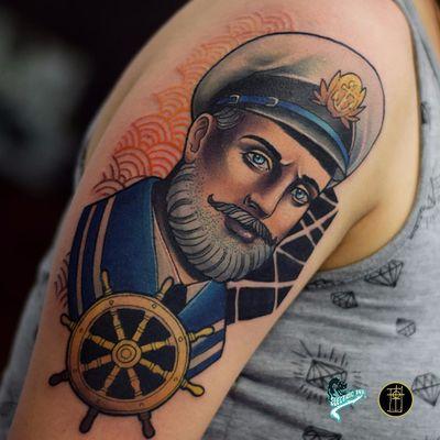 Tattoo por Neto Lobo! #NetoLobo #Tatuadoresbrasileiros #tatuadoresdobrasil #tattoobr #tattoodobr #neotradicional #neotraditional #newtraditional #colorful #colorido #fullcolor #marinheiro #sailor