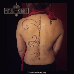 Spine tattoo by Manu Farrarons #ManuFarrarons #polynesian #tahitian #marquesan #ethnic #tribal #ornamental #freetattoo