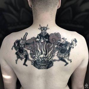 Sabbath tattoo by Iditch #Iditch #traditional #neotraditional #sabbath #devil #demon