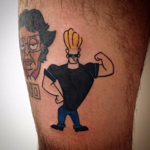 Johnny Bravo por Tommaso Gentili! #TommasoGentili #cartoon #cartoontattoo #nostalgic #nostalgia #geek #nerd #cartoonnetwork #johnnybravo #cartooncartoons