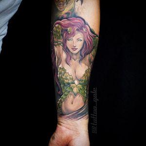 Poison Ivy Tattoo by Galina Sim #poisonivy #posionivypinup #pinup #batman #dc #comics #comicbook #GalinaSim